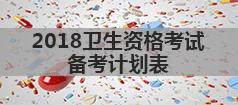 2018卫生资格考试时间安排