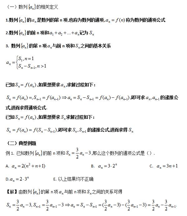 2019考研管理类联考:数列知识点汇总(一)