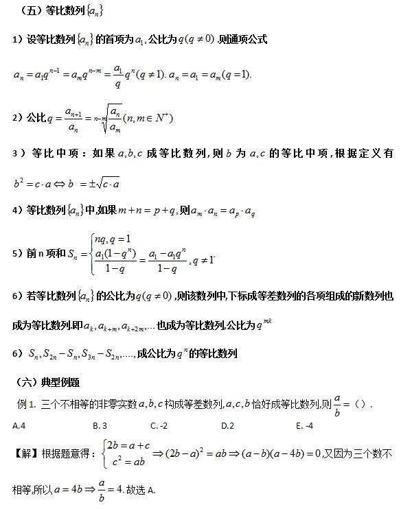 2019考研管理类联考:数列知识点汇总(三)