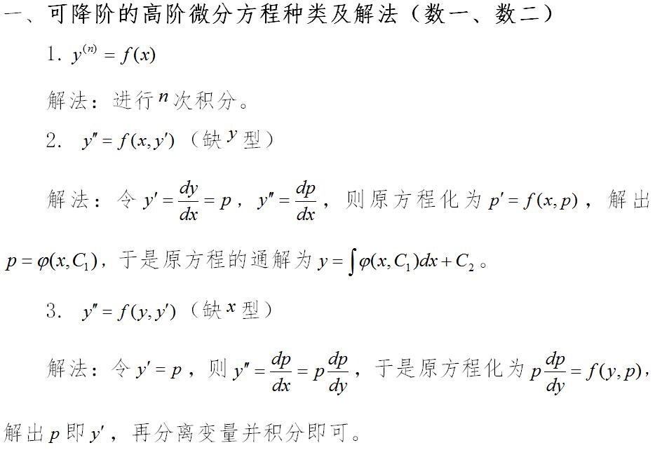 2019考研数学:微分方程(四)