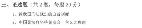 2015年山东大学法学考研试题-综合B(含民法总论 刑法总论)